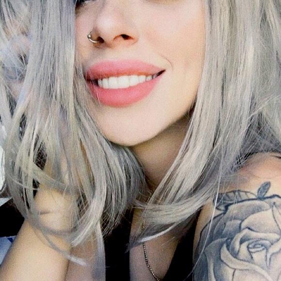 Grey and black ombré wig